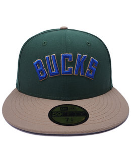 NEW ERA BUCKS WORDMARK 59FIFTY FITTED HAT