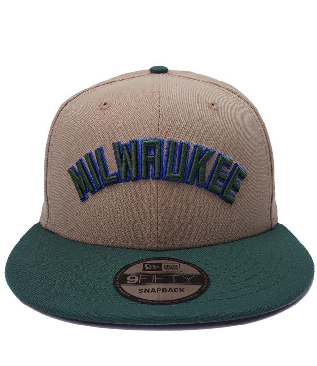 NEW ERA Bucks Milwaukee 9Fifty Snapback Hat