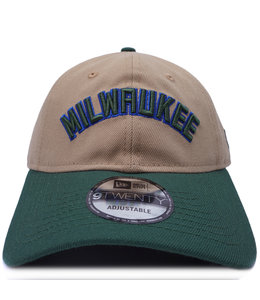 NEW ERA BUCKS MILWAUKEE 9TWENTY ADJUSTABLE HAT