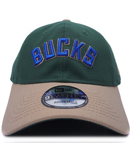 NEW ERA BUCKS WORDMARK 9TWENTY ADJUSTABLE HAT