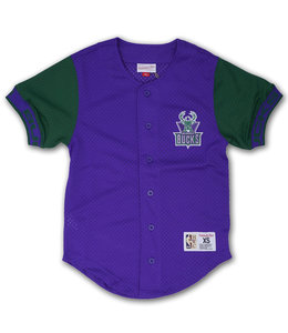 MITCHELL AND NESS BUCKS PURE SHOOTER MESH BUTTON FRONT TOP