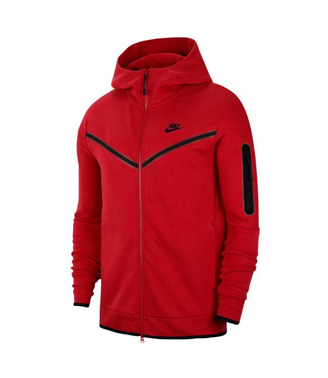 paralelo Discriminar religión  Nike Tech Fleece Full-Zip Hoodie - University Red/Black - MODA3