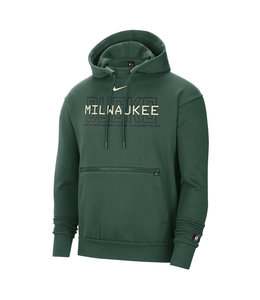 NIKE BUCKS MEN'S COURTSIDE PULLOVER HOODIE