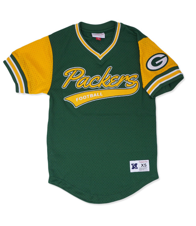 MITCHELL AND NESS Packers Top Prospect Mesh V-Neck