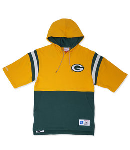 MITCHELL AND NESS PACKERS MEN'S TRAINING ROOM SS HOODIE