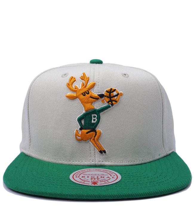 MITCHELL AND NESS Bucks HWC Natural XL Snapback Hat