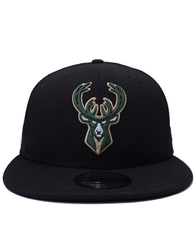 NEW ERA Bucks Scatter 9Fifty Trucker Snapback Hat