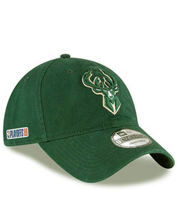 NEW ERA BUCKS PLAYOFFS 2020 9TWENTY ADJUSTABLE HAT