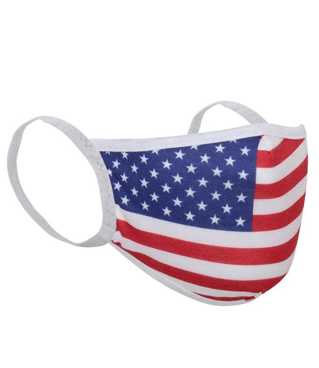 ROTHCO U.S. Flag 3-Layer Polyester Face Mask