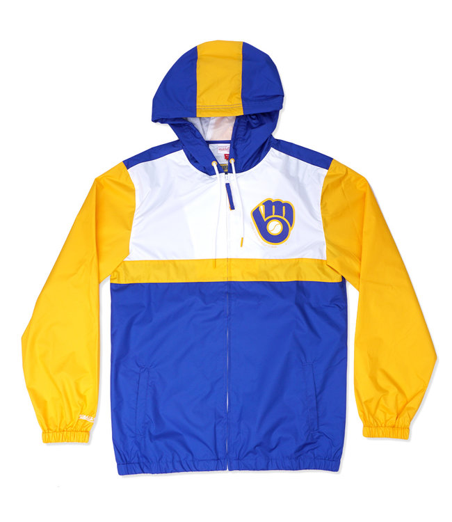MITCHELL AND NESS Brewers Margin Of Victory Jacket