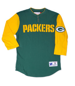 MITCHELL AND NESS PACKERS MEN'S FRANCHISE PLAYER HENLEY