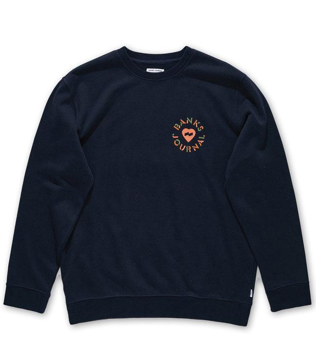 BANKS JOURNAL Heart Circles Crew Sweatshirt