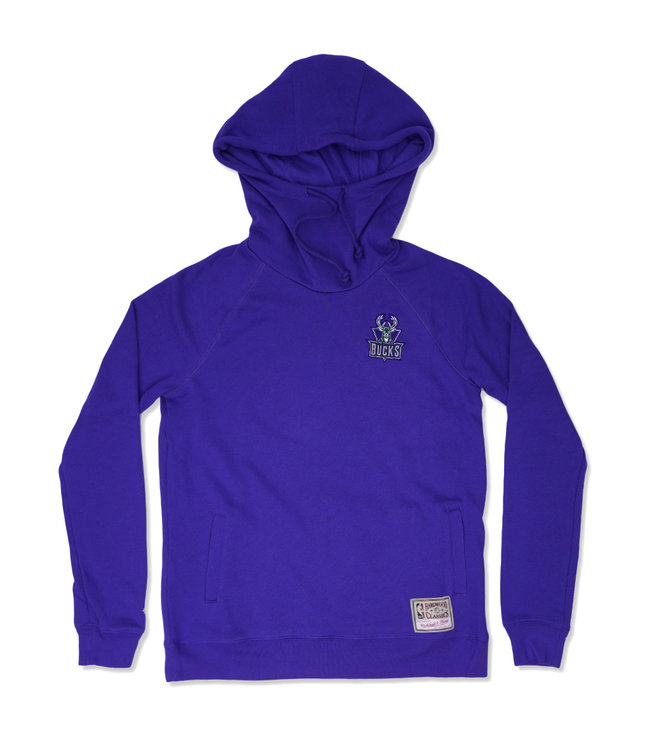 MITCHELL AND NESS Bucks Women's Funnel Neck Pullover