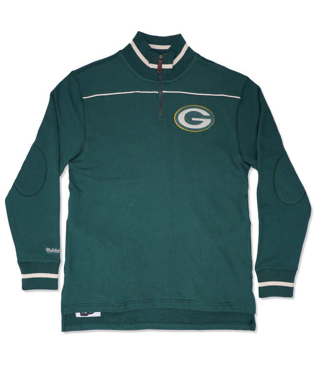 MITCHELL AND NESS Packers Team Issued 1/4 Zip
