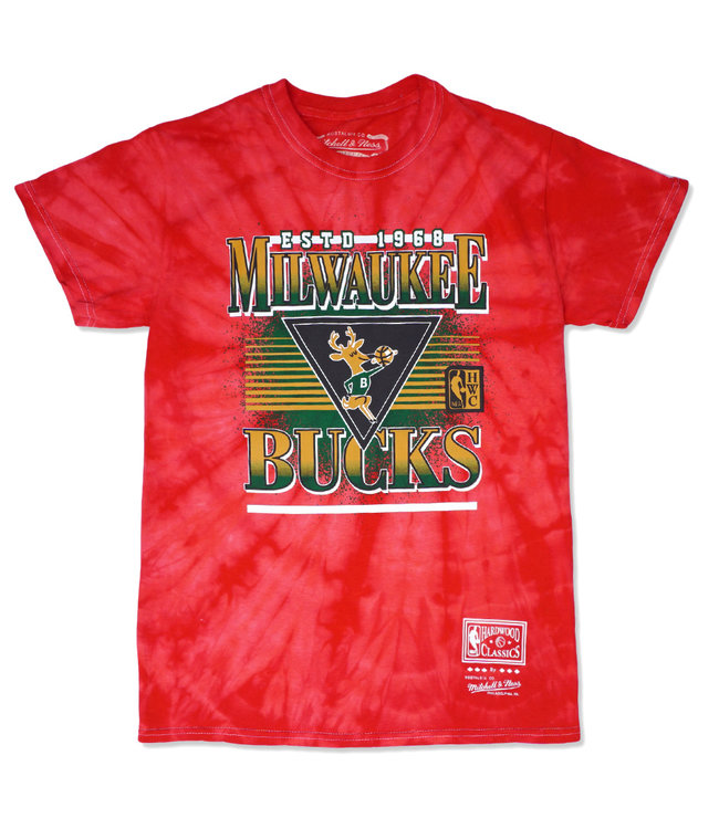 MITCHELL AND NESS Bucks Elevate Tie Dye Tee