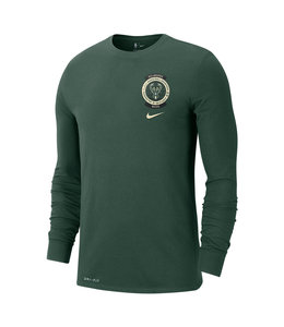 NIKE BUCKS CREST LOGO LONG SLEEVE TEE