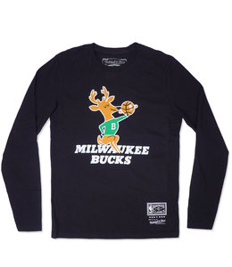MITCHELL AND NESS BUCKS HWC BANGO LONG SLEEVE TEE