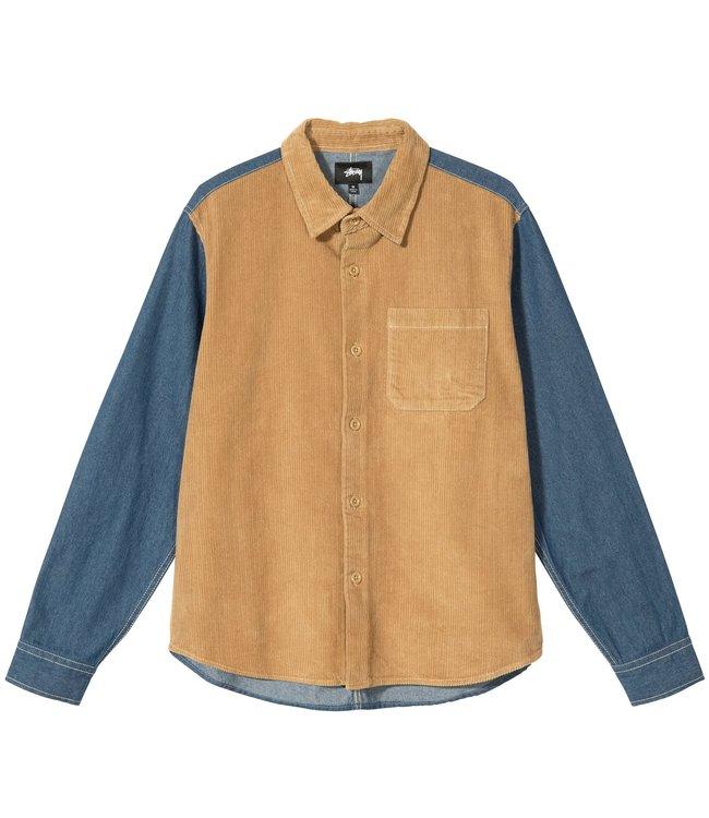 STUSSY Cord Denim Mix Shirt