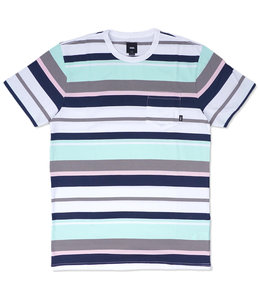 VANS MEN'S WYLAND STRIPE POCKET TEE