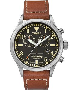 TIMEX WATERBURY CHRONOGRAPH LEATHER WATCH