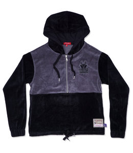 MITCHELL AND NESS BUCKS WOMEN'S VELOUR JACKET