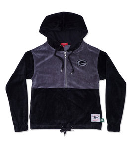 MITCHELL AND NESS PACKERS WOMEN'S VELOUR JACKET