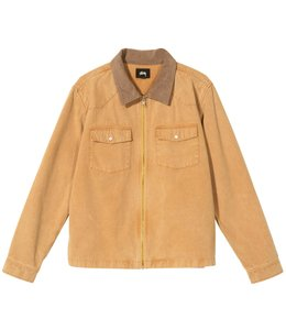STUSSY WASHED CANVAS WORK SHIRT