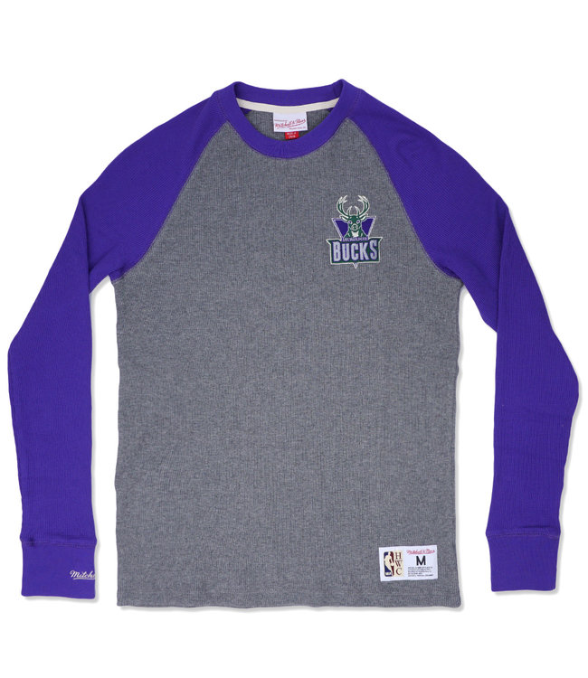 MITCHELL AND NESS Bucks Play By Play Long Sleeve Thermal