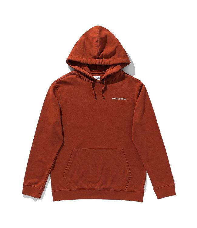 BANKS JOURNAL Label Pullover Hood