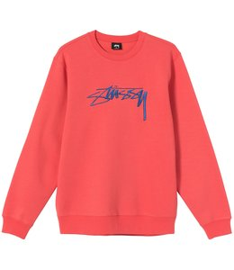 STUSSY SMOOTH STOCK EMBROIDERED CREW