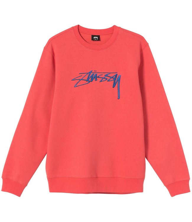 STUSSY Smooth Stock Embroidered Crew Sweatshirt