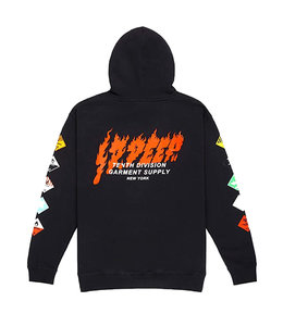 10.DEEP PROHIBITED PULLOVER HOODIE
