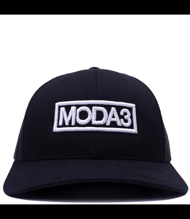 MODA3 Outline Logo Low Profile Trucker Hat