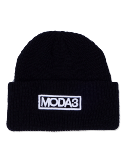 MODA3 OUTLINE LOGO RIBBED CUFF BEANIE