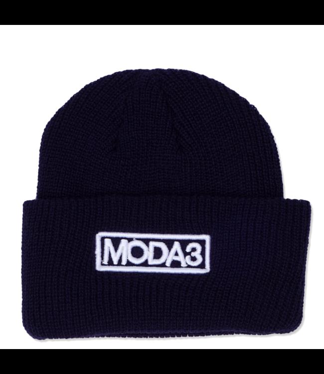 MODA3 Outline Logo Ribbed Cuff Beanie