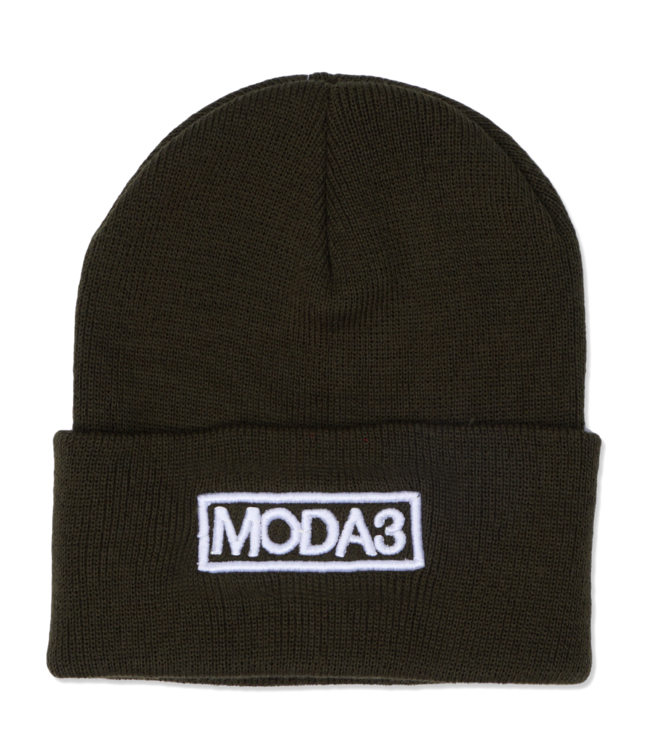 MODA3 Outline Logo Cuff Beanie