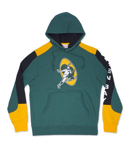 MITCHELL AND NESS PACKERS FUSION PULLOVER HOODIE