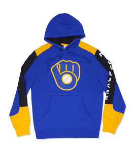 MITCHELL AND NESS BREWERS FUSION PULLOVER HOODIE