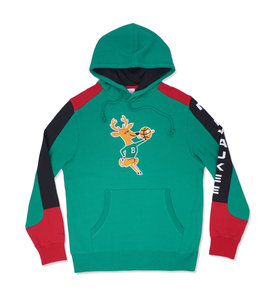MITCHELL AND NESS BUCKS FUSION PULLOVER HOODIE