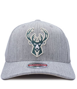 MITCHELL AND NESS BUCKS TEAM HEATHER SNAPBACK HAT