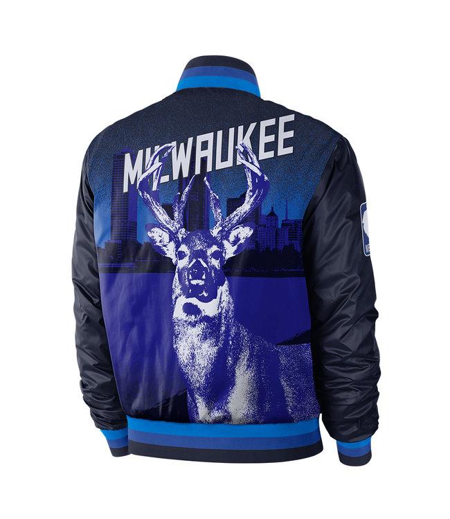 NIKE Bucks City Edition Courtside Jacket