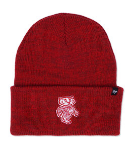 '47 BRAND BADGERS BRAIN FREEZE CUFF KNIT BEANIE