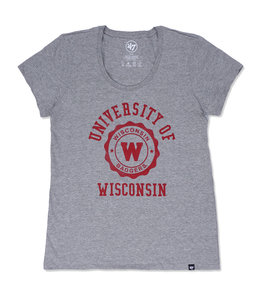 '47 BRAND BADGERS WOMEN'S RILEY SCOOP TEE