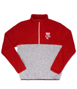 '47 BRAND BADGERS KODIAK COLORBLOCK 1/4 ZIP
