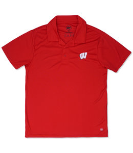 '47 BRAND BADGERS ACE EMBROIDERED POLO SHIRT
