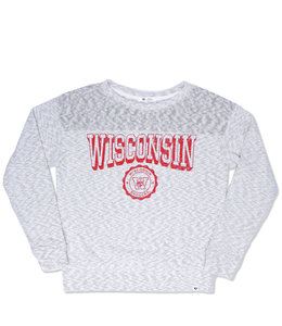 '47 BRAND BADGERS WOMEN'S IVY BLOCK CREWNECK
