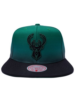 MITCHELL AND NESS BUCKS COLOR FADE SNAPBACK HAT