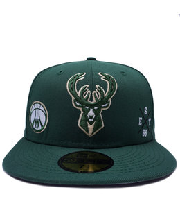 NEW ERA BUCKS MULTI LOGO 59FIFTY FITTED HAT