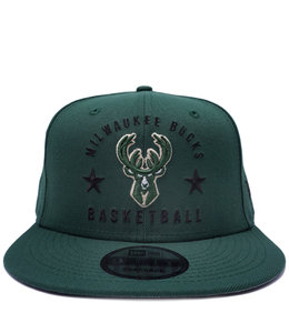 NEW ERA BUCKS ARCHED 9FIFTY SNAPBACK HAT