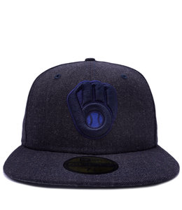 NEW ERA BREWERS HEATHER 59FIFTY FITTED HAT